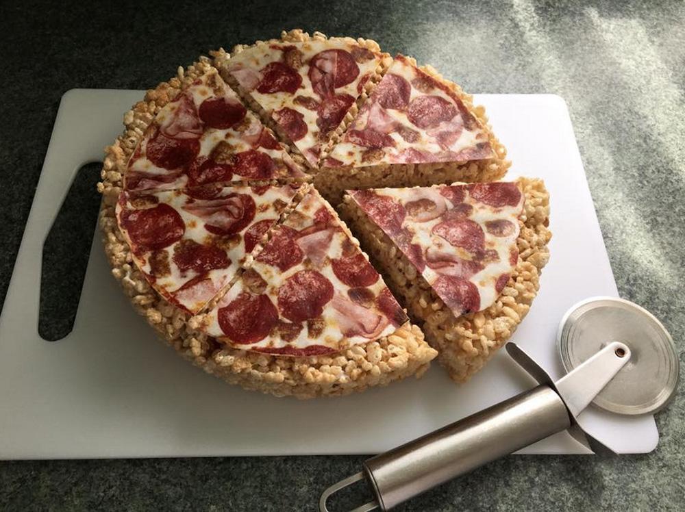Crispie Pizza Cakes