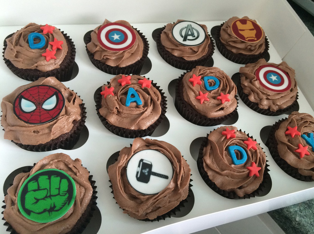 Custom Character Father's Day Cupcakes