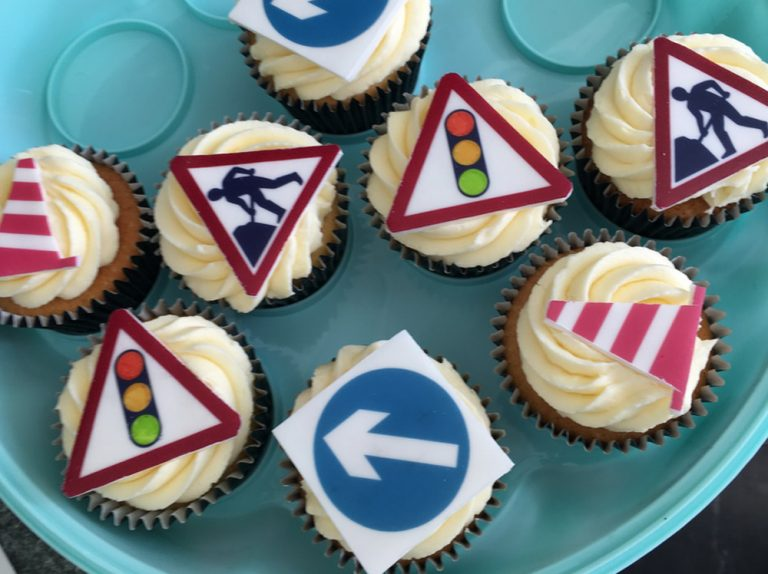 Road Work Cupcakes