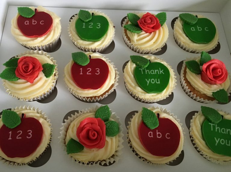 Best Teacher Cupcakes