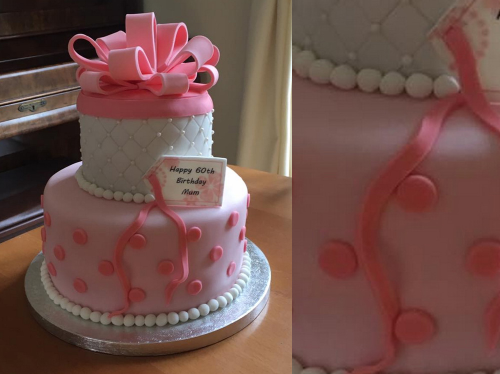 Quilted Ribbon Cake