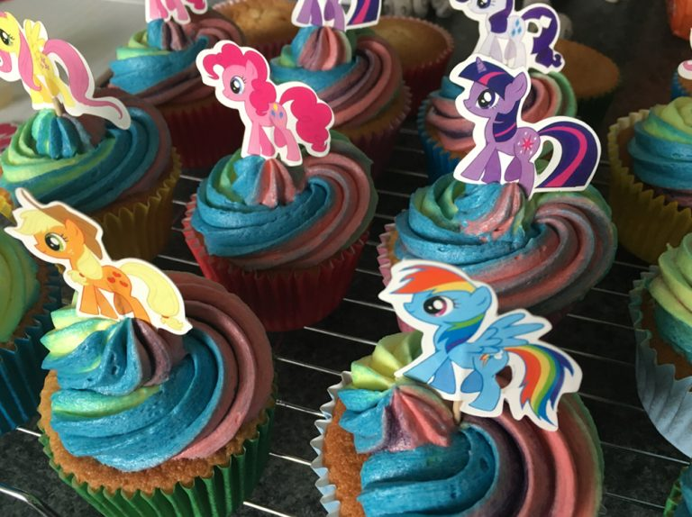Custom Character Rainbow Cupcakes